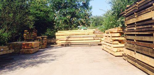 oak-beams-pile