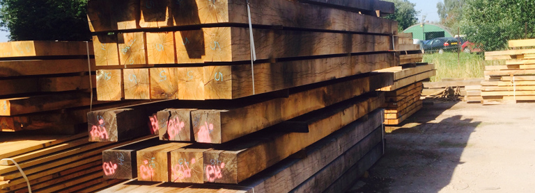 square cut oak beams