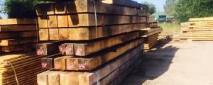 Square edge oak pile