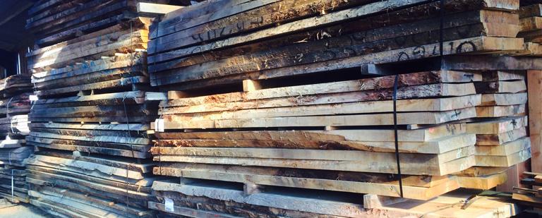 Big ple of oak beams