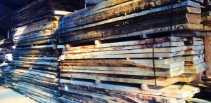 Loose cut oak beams