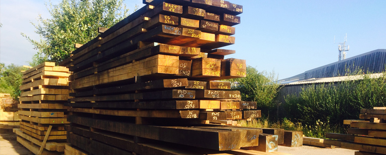 Oak beams in sun
