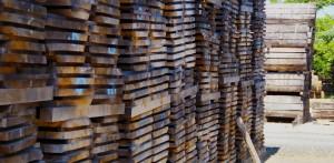 Joinery oak grading piles