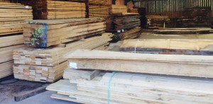 Joinery oak piles